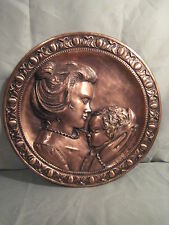 Mother & Child Copper Wall Art - 1982 - Albert Nadeau - Signed, COA - Must See!