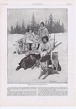 PUBLICITE ADVERTISING 054 1911 REVILLON fourrures Les Trappeurs à leur service