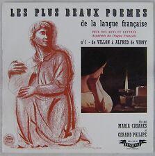 Les plus beaux poèmes de la langue française 33 tours Gérard Philipe Casarès N°1