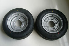 185/60 R12C 5 STUD 6.5 PCD TRAILER WHEEL AND TYRE X 2 IFOR WILLIAMS/BRIAN JAMES
