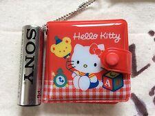 Sanrio Hello Kitty Mini Vinly Wallet type Mirror with chain kawaii Cute F/S NEW