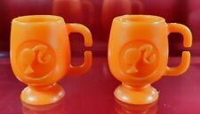 Barbie Vintage Orange Mugs Pony Tail Dreamhouse Diorama Dolls Accessory
