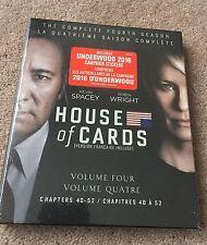 House of Cards: Complete Fourth Season (Blu-ray + Digital HD, 2016, 4-Disc Set)
