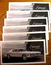 1977 Cadillac Eldorado Brochure LOT 6 pcs, Custom Biarritz New Old Stock NOS