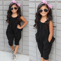 Toddler Baby Girls Sleeveless Romper Jumpsuit Bodysuit Summer Clothes Outfits