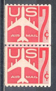 US Stamp (L264) Scott# C61, Mint LH OG, Nice Coil Line Pair, Air Mail