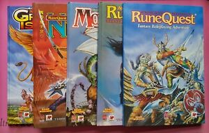 RUNEQUEST 3RD EDITION GAMES WORKSHOP COLLECTION - RPG RQ ROLEPLAYING CHAOSIUM GW
