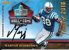 RARE MARVIN HARRISON SIGNED 2016 PANINI DAY PRO FOOTBALL HALL OF FAME AUTO CARD