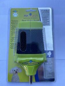 FURMINATOR FURFLEX DOG GROOMING DUAL SLICKER BRUSH FOR SMALL DOGS