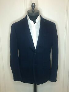Stunning Hackett Navy Soft Cotton Jersey Summer Jacket RRP £550