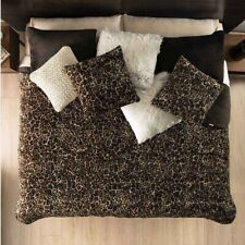 CHITA LEOPARD PRINT LUXURY BLANKET WITH SHERPA VERY SOFTY THICK AND WARM QUEEN