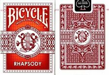 1 Deck Bicycle Rhapsody Standard Poker Playing Cards Red  New Deck