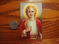 ANTIQUE from convent RARE lithographied WITH GOLD PRINT HOLY CARD EMMANUEL