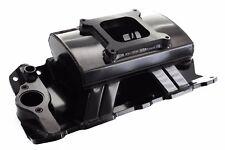 Black SBC Sheet Metal Fabricated Aluminum Intake Single Carb Chevy Tunnel Ram