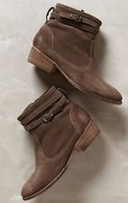 NIB Anthropologie SEYCHELLES Outback Booties Brown Strap Buckle 7