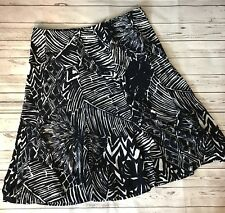 Chaps Womens Size MEDIUM Skirt Navy Blue White A Line Knee Length Stretch