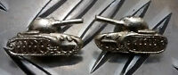 Genuine Russian USSR CCCP Red Army Tank Division Collar Soviet Pin Badges - NEW