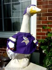 GOOSE CLOTHES LAWN MINNESOTA VIKINGS FOOTBALL FITS CEMENT & PLASTIC COTTON