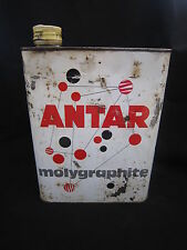AB861 BIDON HUILE ANTAR MOLYGRAPHITE X-100 MOTOR OIL 2 Litres MAUVAIS ETAT 20W