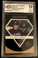 2000 Just Imagine Promos #NNO N. JOHNSON / A. SORIANO Rookie Graded Mint 9 Becke