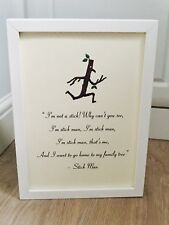 Stick Man Julia Donaldson A4 Quote Art Print Unframed Gift Nursery Christening