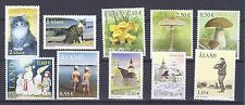 ALAND-FINLAND-Complete Year 2003-10vals-CATS-MUSHROOMS-CHRISTMAS-CHURCHES