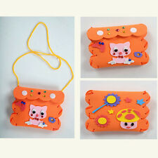 DIY Handmade 3D EVA Mini Purse Sticker Cartoon Wallet Kids Child Craft Toy Kits