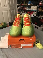 VVNDS Nike Kobe VI Grinch Christmas Xmas Mamba Size 7y With OG ALL AND RECEIPT!!