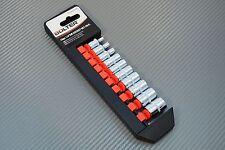 Steckschlüsselsatz 6kt Nüsse Einsatz Set 1/4 6 kant 4-13 mm 10 tlg Stecknüsse
