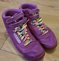 Reebok freestyle Hot Pink 25th Anniversary UK 5 80s Vintage Reign -bow laces