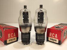 2 Vintage NOS 1950's RCA 6BG6G 6BG6 G-807 Amplifier Tube Pair in Boxes - USA
