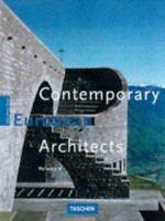 Contemporary European Architects Paperback Philip Jodidio