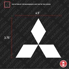 2x MITSUBISHI LOGO sticker vinyl decal