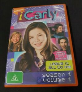 RARE Nickelodeon iCarly Leave It All To Me DVD Region 4 [Season 1 Volume 1]