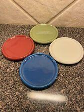 New Longaberger Pottery Candle Coaster/Lids Fits One Pint Salt Crock - 4 Colors