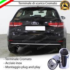 TERMINALE DI SCARICO PER MARMITTA CROMATO INOX AUDI A3 8V SPORTBACK STILE S-LINE