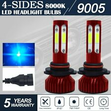 4-Sides 9005 HB3 LED Headlight Bulbs High LOW Beam 8000K ICE BLUE Conversion Kit