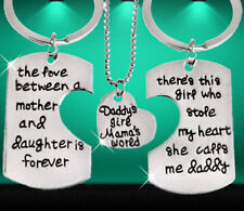 Mum daddy daughter gifts for Fathers day trio parts engraved unusual gift 3 SALE