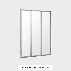 Concertina Right Hand Three Fold Bath Screen Chrome - Genuine   RRP: £239
