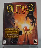 OUTLAWS - PC, 1997 - Lucas Arts Big Box with Inserts