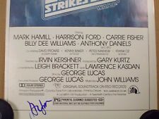 Empire Strikes Back STAR WARS ORIGINAL 14x36 MOVIE POSTER Signed Harrison Ford