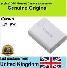 Genuine Original Canon battery LP-E5 EOS 450D 500D 1000D Rebel XS XSi Kiss F X3