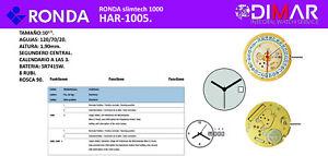 Movement Swiss Ronda Cal. 1005. Slimtech
