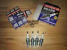 4x Vauxhall Opel Combo 1.4i y1994-2011 = Brisk YS Silver Upgrade Spark Plugs