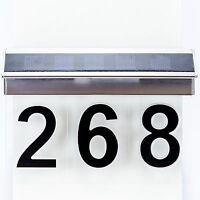 Solar Hausnummer LED 3-D Effekt Solarleuchte Hausnummerleucht für 1-3 Ziffern