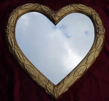 Wall Mirror Heart Love Mirror Heart Shape Baroque Gold Love Gift New 88