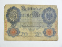 Billet allemand de 20 mark 1908, reichsbanknote ( reich, mark )