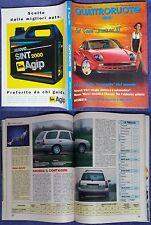 QUATTRORUOTE Fiat coupè,Renault Clio,Nissan Micra,benzinai furbi,Primera Dedra#f