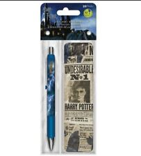 NEW INKWORKS WIZARD HARRY POTTER GEL PEN + UNDESIRABLE NO. 1 BOOKMARK *FREE SHIP