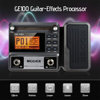 MOOER GE100 Processor Multi-Effects Pedal 8 Effect Modules 180s Loop Recording